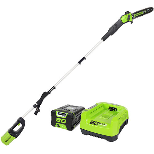 Greenworks PS80L21 PRO 10 Inch 80V Cordless Pole Saw