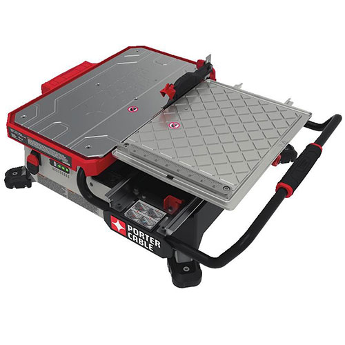 Porter Cable PCC780LA 20V MAX 7 Inch Sliding Table Top Wet Tile Saw