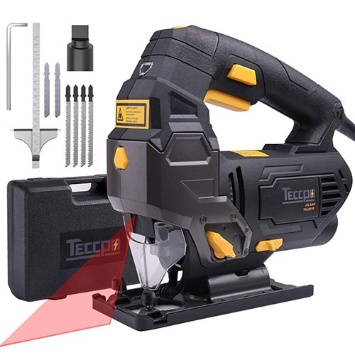 TECCPO 6.5 Amp 3000SPM Jig Saw with Laser Guide